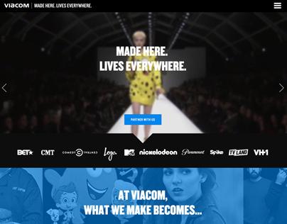 Viacom Made Here Campaign: Website & Digital Ads