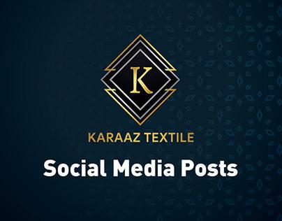 Karaaz Textile- Social Media Posts and Profile &Cover