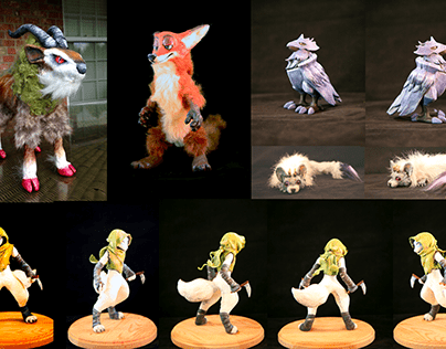 Maquette Sculpture and Posable Art Dolls