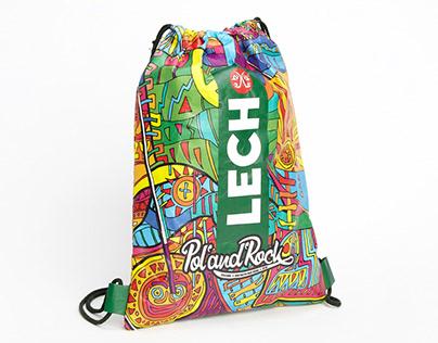 Tyvek® Drawstring Bagpacks for LECH Pol'and'Rock Fstv