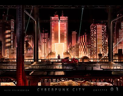 Cyberpunk city 03 : Akira