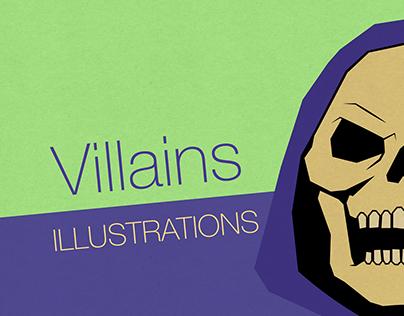 Villains illustrations (square/flat design)