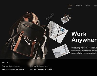 Web Site home page UI design