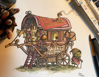 Frog's Travelling Wagon