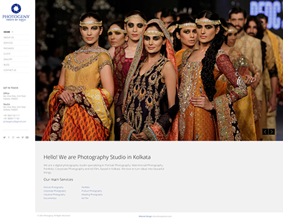 Website Design and Branding for Photography Studio