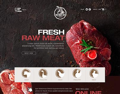 First Meat e-commerce website Design