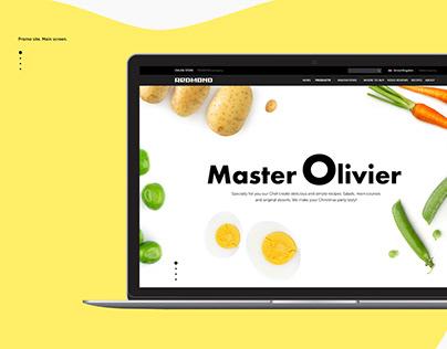Landing page Master Olivier