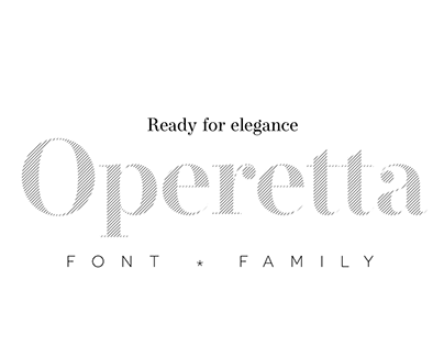 Operetta font family: 8 weights × 5 optical sizes