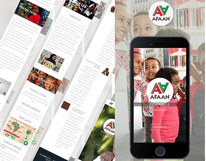 AFAAN Publications & Media Website_UI/UX Design