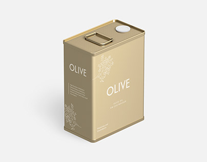 Free Olive Can Mockup