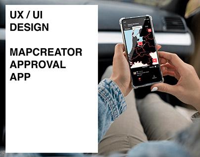 UX/UI Design - Map content approval app