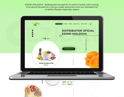 Dehydrator online shop - Redesigned concept