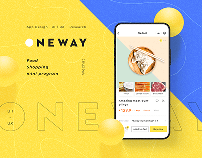 Oneway food shopping mini mobile app UI / UX Research