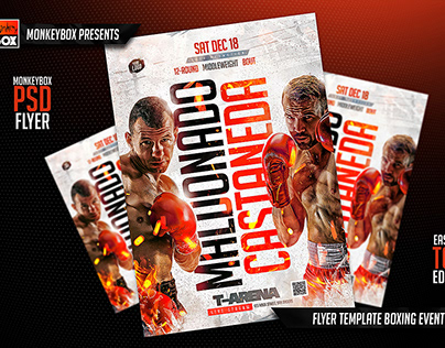 Flyer Template Boxing Event