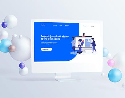 Service Website Design For Development Team