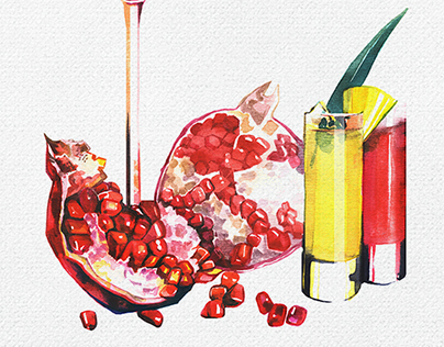 Food illustration for menu