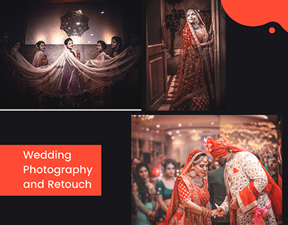 Wedding photography : retouch, Before and After