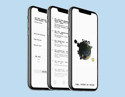 slugline: a screenwriting productivity app