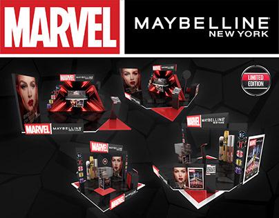 Marvel Maybelline New York Stand Dubai Mall