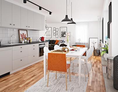 Swedish apartment visualization