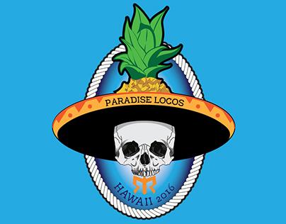Digital Illustration for Paradise Locos Running Team