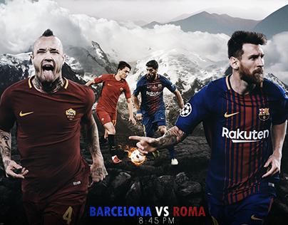 Match Card ( Barca Vs Roma )
