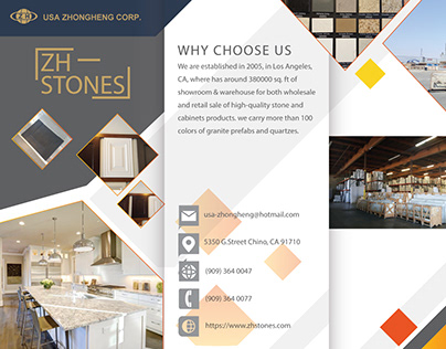 Brochure for ZH Stones