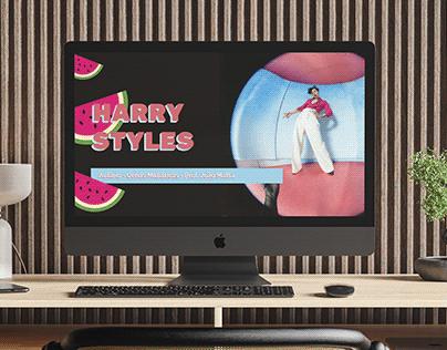 Apresentação Harry Styles (design slides)