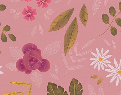 Pattern Design - Pink Flowers -