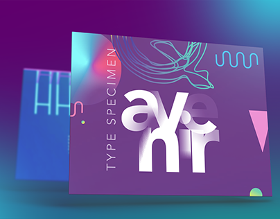 Avenir Type Spécimen Website