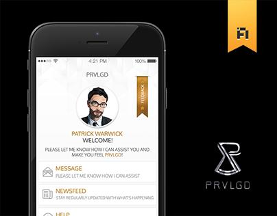 PRVLGD App Design