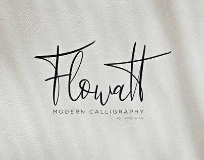 Flowatt Modern Calligraphy Font