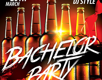 Bachelor Party FREE PSD Flyer Template