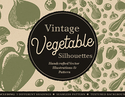 Vintage Vegetable Silhouettes