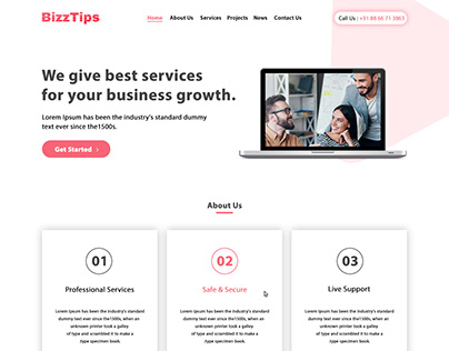 BizzTips: Business and Consulting Web Layout
