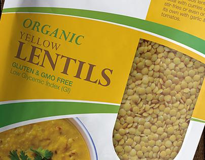 Organic Lentils & Fava beans Package Design