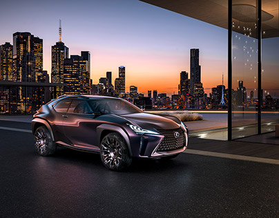 LEXUS UX concept car | CGI and real footage