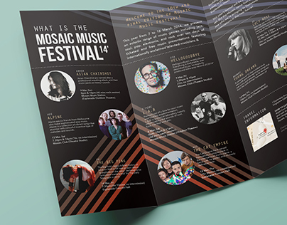Mosaic Music Festival 14': Brochure + Ticket
