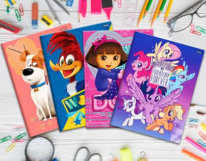 Kid's Notebooks (Hasbro, Nick, Universal) 2018