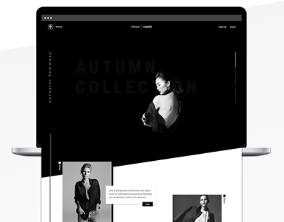 Minimal Fashion Web Design