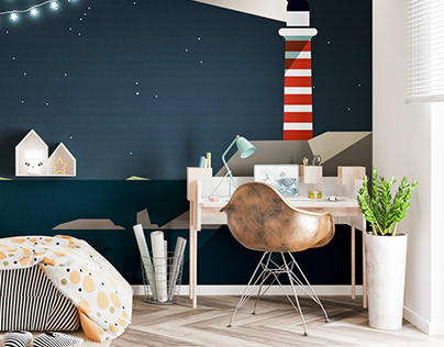 Childroom interior in Cracow, 12sqm