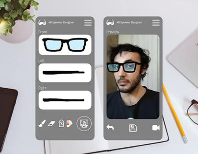 AR Eyewear Design Application