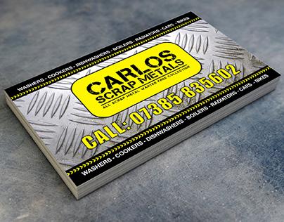 Carlos Scrap Metal Business Card Design