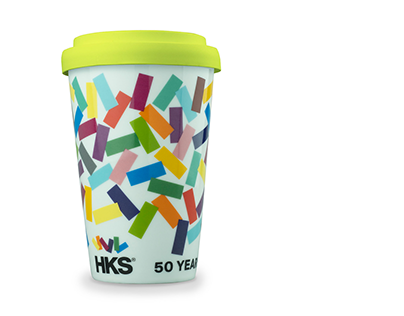 HKS – 50 years coffee mug