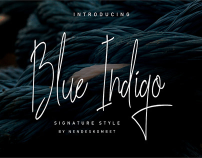 Blue Indigo - a script signature style
