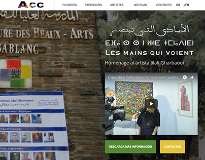 Landing page for event - Casablanca