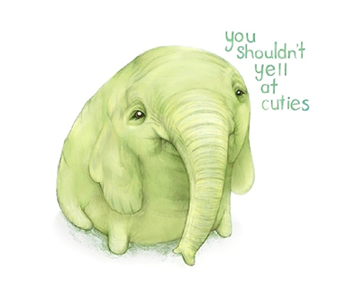 Treetrunks quote: you shouldn't yell at cuties