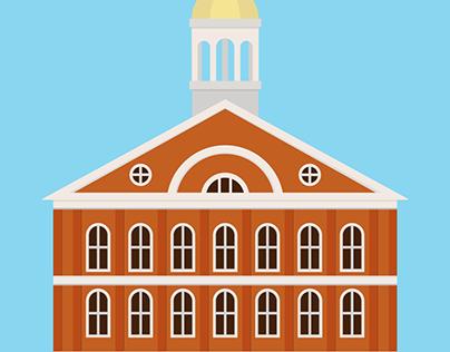 Fanueil Hall, Boston.