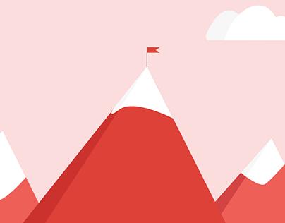 Climb the mountain - Flat Design Journey