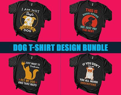 Dog T-Shirt Design Bundle
